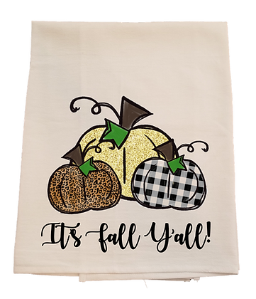 Pumpkin Fall Tea Towel