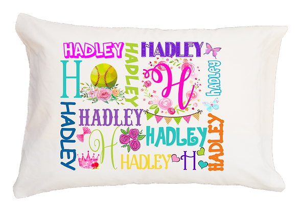 Softball My Name Standard Pillowcase