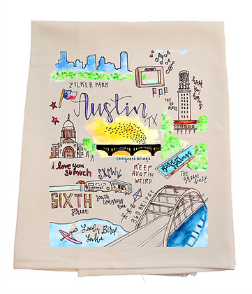 Austin City Tea Towel