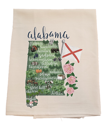 Alabama Cities Tea Towel