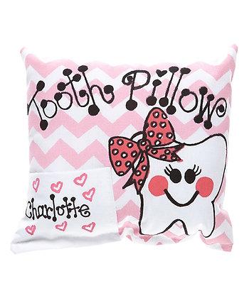 Pink Girls Chevron Tooth Pillow