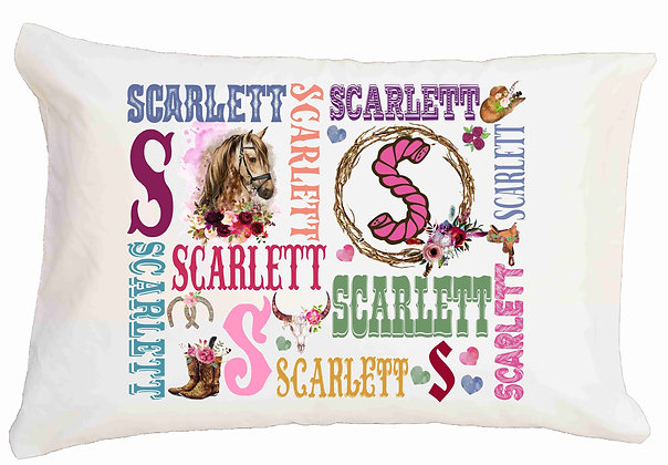 Horse My Name Standard Pillowcase