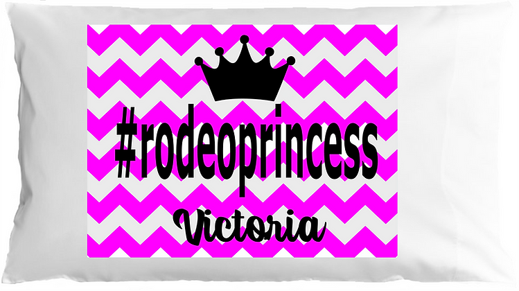 #rodeoprincess w/Custom Name Standard Pillowcase