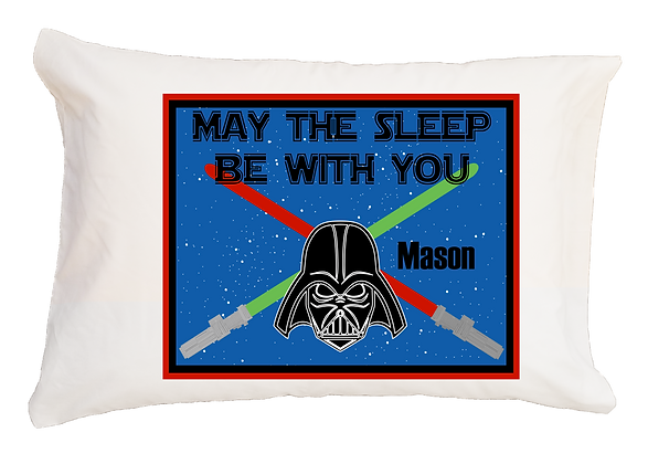 May The Sleep Be With You w/Custom Name Standard Pillowcase