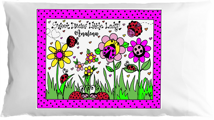 Ladybug Garden Toddle Pillow