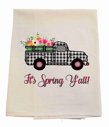 Spring Truck Tea Towel