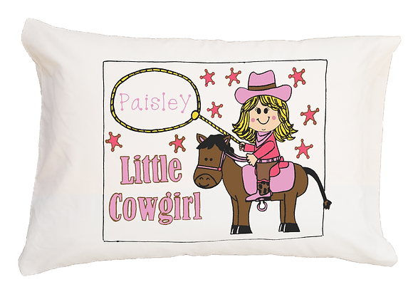 Little Cowgirl Toddler Pillow