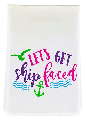 Ship Faced Tea Towel