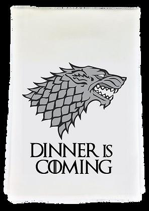 Dinner is Coming Tea Towel