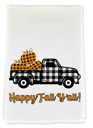 Happy Fall Y'all! Tea Towel