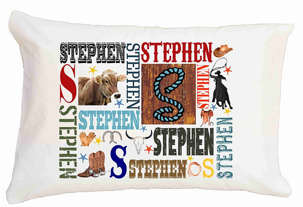 Steer My Name Standard Pillowcase