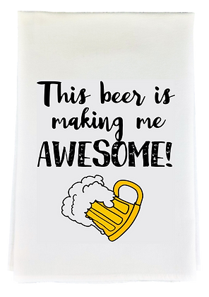 Beer Awesome Tea Towel