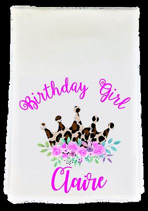 Birthday Girl Tea Towel w/Custom Name