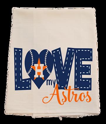 Love My Astros Tea Towel