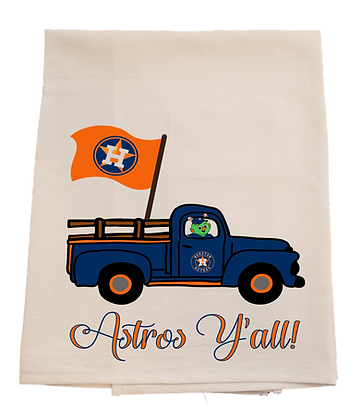 Astros Flag Truck Tea Towel