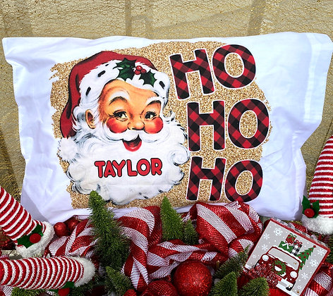 Ho Ho Ho! Light Skin Santa Standard Pillow Case