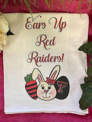 Red Raiders Easter Tea Towel