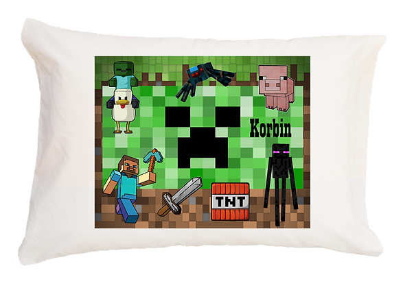 Minecraft Toddler Pillow