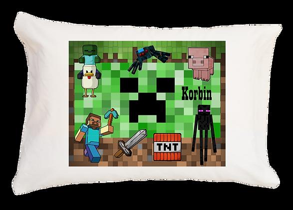 Minecraft w/Custom Name Standard Pillowcase