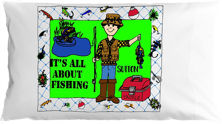 Fisherman w/Custom Name Standard Pillowcase