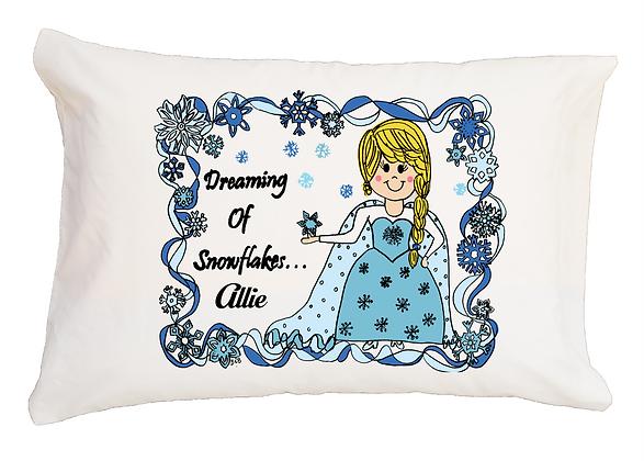 Snowqueen w/ Custom Name Travel Pillow