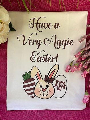 Aggie Easter Tea Towel