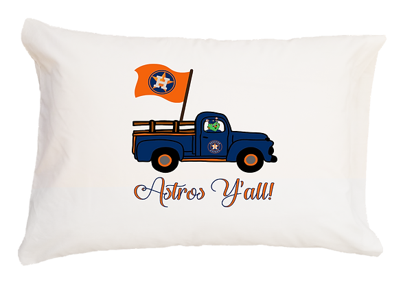 Astros Flag Truck Standard Pillowcase