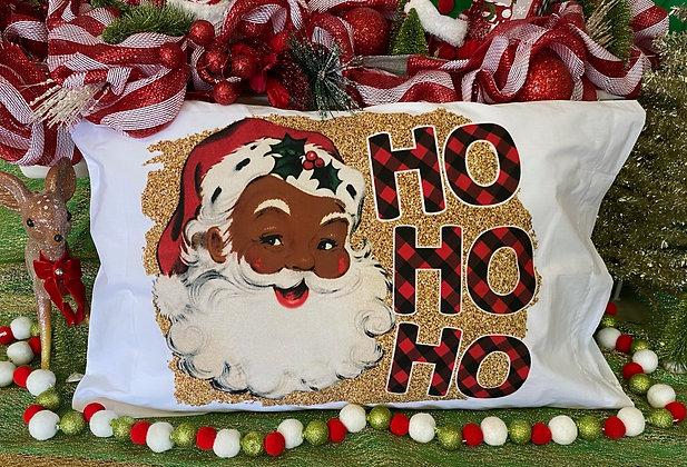 Ho Ho Ho! Dark Skin Santa Standard Pillow Case