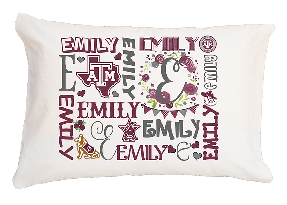 Texas A&M Girl My Name Standard Pillowcase