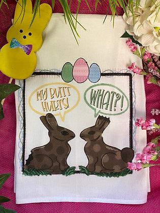 Chocolate Bunny Easter Towel