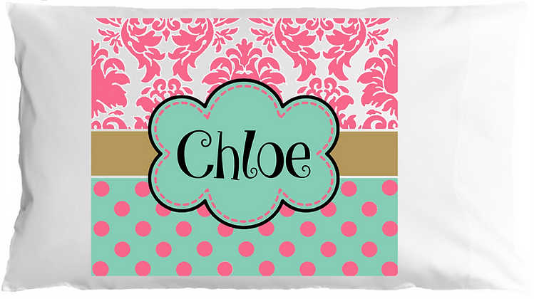 Chloe Style w/Custom Name Travel Pillow