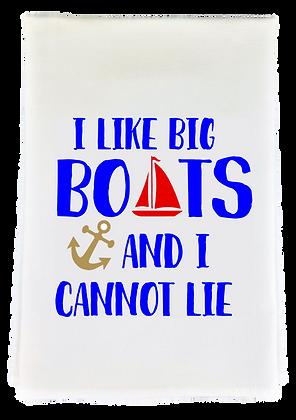 Big Boats Tea Towel