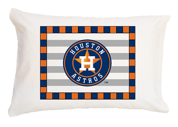 Astros Striped Standard Pillowcase