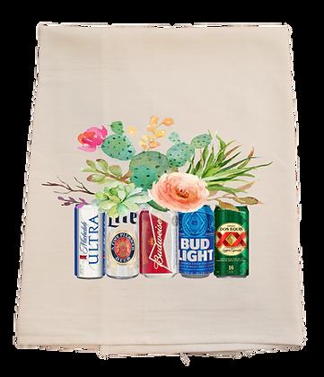 Beer Bouquet Tea Towel