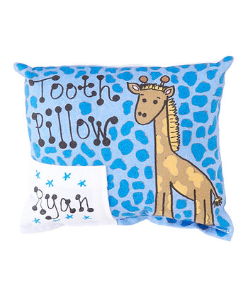 Blue Giraffe Tooth Pillow