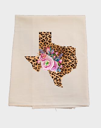 Texas Leopard Tea Towel