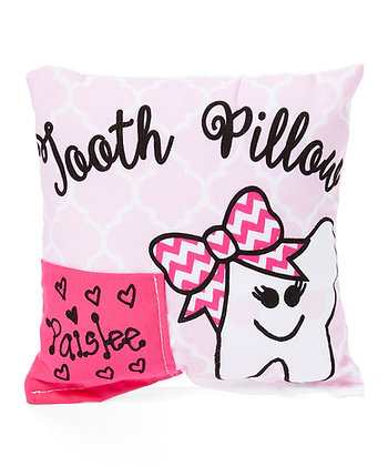 Girls Quatrefoil Tooth Pillow