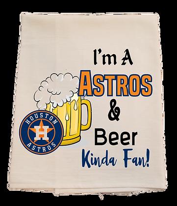 Astros & Beer Tea Towel