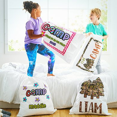 Camp Standard Pillowcase and Laundry Bag Set