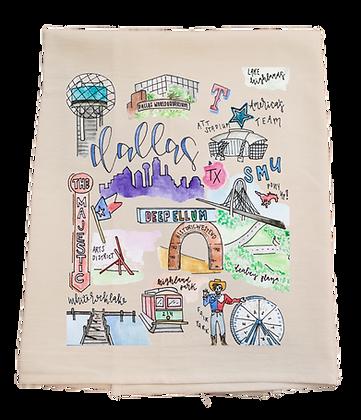 Dallas City Tea Towel