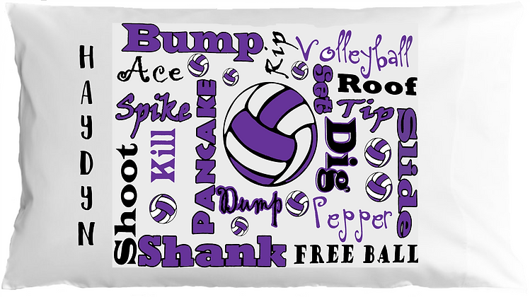 Sports Chatter w/Custom Name Standard Pillowcase