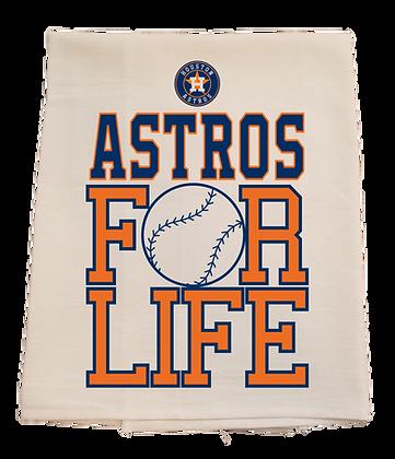 Astros For Life Tea Towel