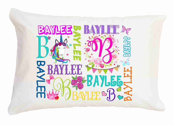 Girl My Name Custom Toddler Pillow
