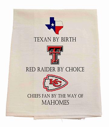 Texan By Birth Tea Towel