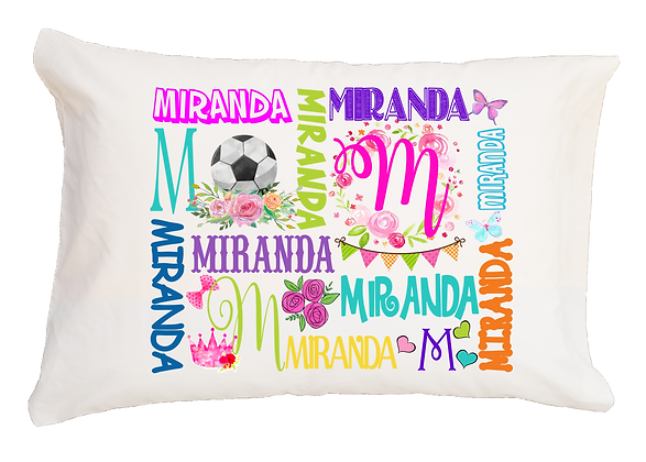 Soccer My Name Standard Pillowcase