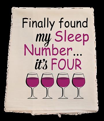 Sleep Number Tea Towel