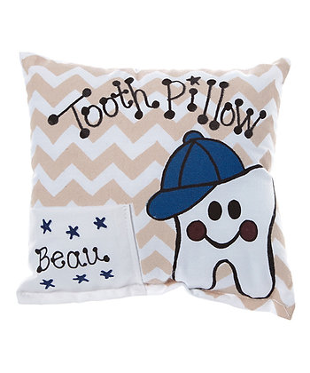 Boy's Chevron Tooth Pillow