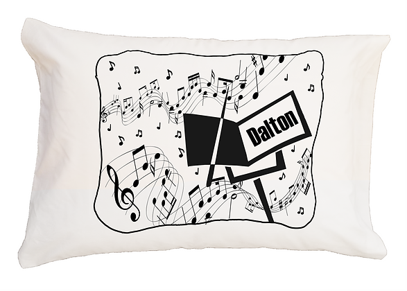 Music Notes Travel Pillow