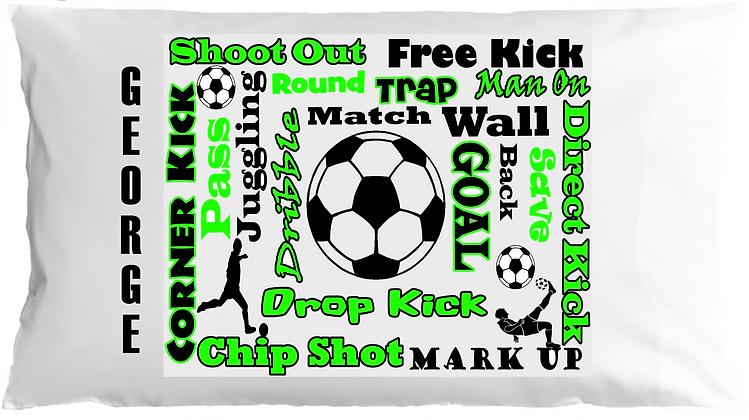 Soccer Sports Chatter w/Custom Name Pillowcase
