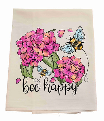 Bee Happy Tea Towel